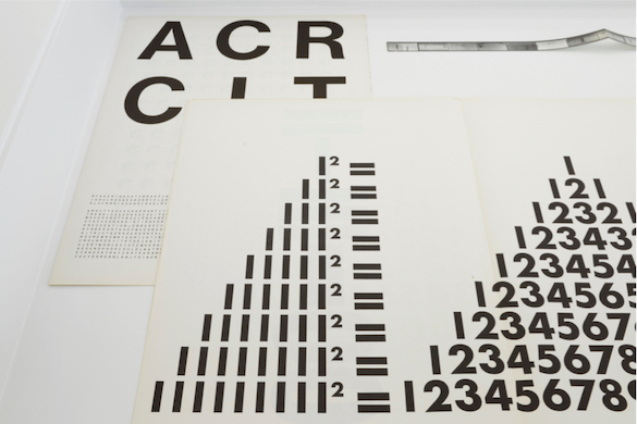 Guy de Cointet, ACRCIT, 1971. Courtesy Centre Pompidou, Paris Musée national d'art moderne / Centre de création industrielle Photo : Isabelle Arthuis