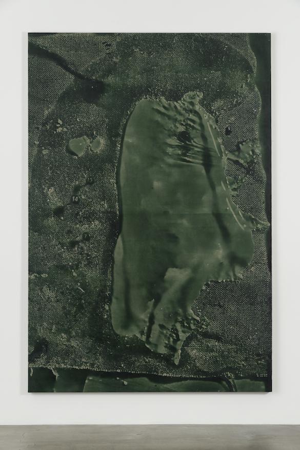 Daniel Lefcourt, Cast (Remote Sensing), 2015. Pigment PBK31 et uréthane sur toile. Courtesy Daniel Lefcourt ; Campoli Presti, London / Paris.