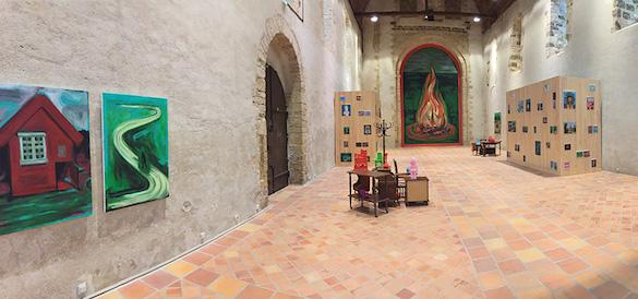 """Guillaume Pinard, vue de l' exposition """"Du fennec au Sahara"""", organisée par le Carré Scène nationale - Centre d'art contemporain, à laChapelle du Genêteil, Château-Gontier. Photo © Marc Domage."""