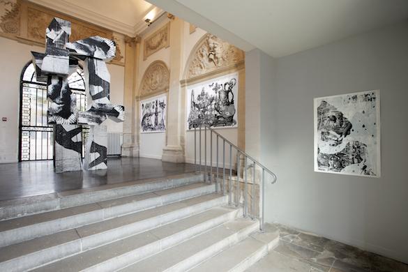 """Vue de l'exposition """"Sur le motif"""", Maison d'Art Bernard Anthonioz, Nogent-sur-Marne. © Isabelle Giovacchini / ADAGP."""