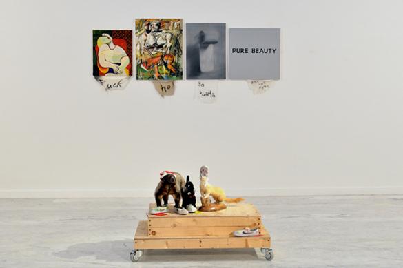 """Vue d'exposition """"Culture Cuts"""", Cody Choï, Musée d'art Contemporain, 2016, Marseille ©IF/AnneeFranceCorée/T.Chapotot"""