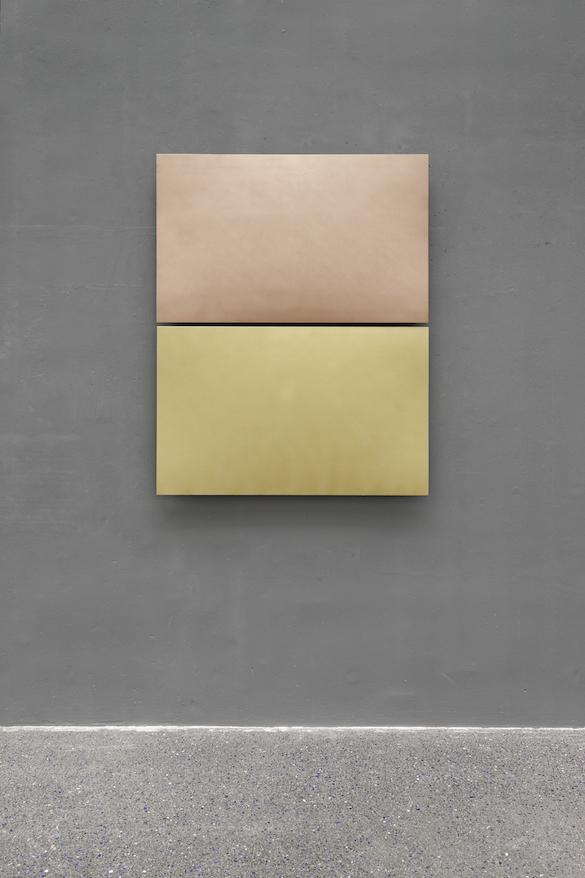 Nicolas Momein, Métallisation Bronze Aluminium et Bronze étain. Vue de l'exposition à Micro-Onde. Photo : Aurélien Mole.