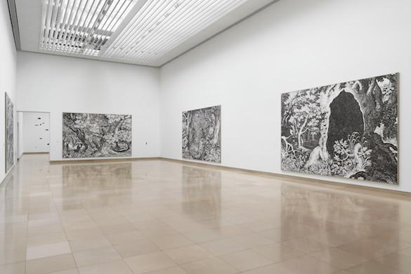 Ugo Rondinone, vue de l'exposition au Carré d'Art, Nîmes. Photo : Stefan Altenburger