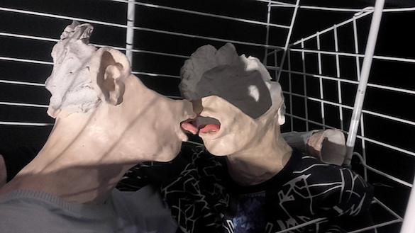 Jean-Alain Corre, & love. En collaboration avec Héloïse Bariol. Détail de l'installation pour l'exposition « Double Je », Palais de Tokyo, Paris, 2016. Courtesy Jean-Alain Corre ; galerie Thomas Bernard - Cortex Athletico. Photo : Jean-Alain Corre.